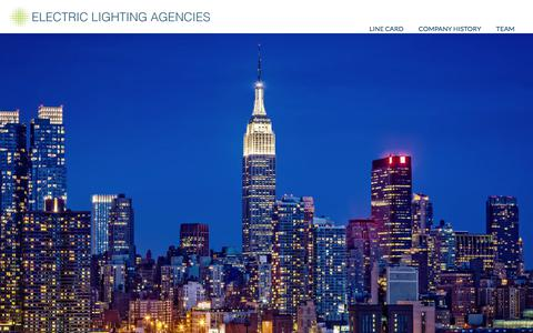 Screenshot of Home Page electriclighting.com - Electric Lighting Agencies | - captured Sept. 26, 2018