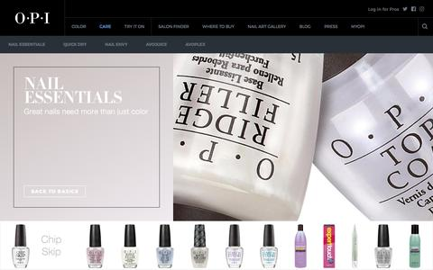 Screenshot of Products Page opi.com - Care Product Line | OPI - captured March 3, 2017