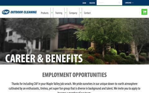 Screenshot of Jobs Page mycaf.com - Career - captured July 21, 2018