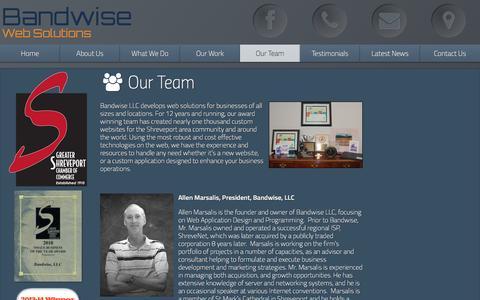 Screenshot of Team Page bandwise.com - Our Team | Bandwise Shreveport Web Design, Hosting, Mobile App, & SEO - captured April 4, 2016