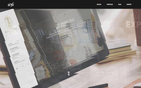 Screenshot of Home Page agence-w3g.com - Agence web Corse et Studio graphique - W3G - captured Nov. 11, 2017