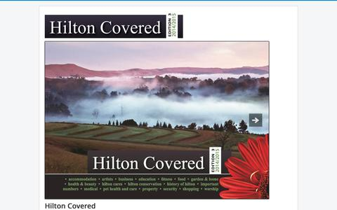 Screenshot of Home Page hiltoncovered.co.za - Hilton Covered - captured Sept. 19, 2014