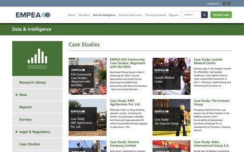 Screenshot of Case Studies Page empea.org - Case Studies Archives - EMPEA - captured Sept. 28, 2018