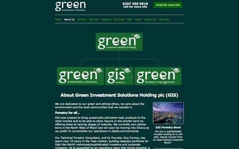 Screenshot of About Page greenis.co.uk - Green Forestry Investment with Green Investment Solutions - captured Nov. 5, 2014