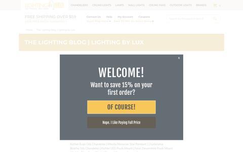Screenshot of Blog lightingbylux.com - The Lighting Blog   Lighting by Lux - captured Nov. 5, 2018