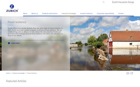 Flood resilience | Topic | Zurich Insurance