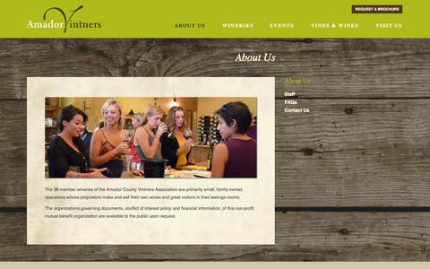 Screenshot of About Page amadorwine.com - About Us | Amador Vintners Association - captured Oct. 4, 2014