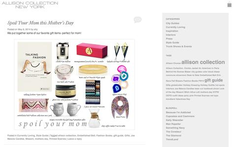 Screenshot of Blog allisoncollectionny.com - Style Guide | Allison Collection NY - captured Oct. 4, 2014