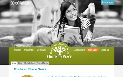 Screenshot of Press Page orchardplace.org - Latest News About Orchard Place | Des Moines Nonprofit - captured Feb. 27, 2016