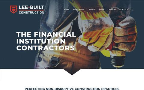 Screenshot of Home Page leebuilt.com - Lee-Built Contruction - captured Sept. 28, 2018