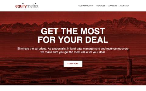 Screenshot of Home Page equitymetrix.com - Home - EquityMetrix - captured July 3, 2015