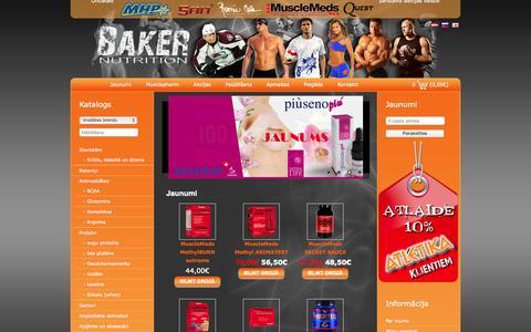 Screenshot of Home Page bakernutrition.lv - BakerNutrition.lv - captured Oct. 1, 2014