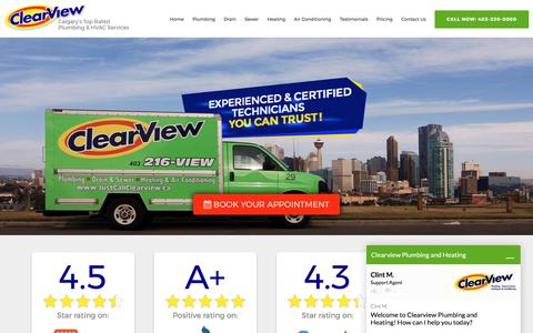 Calgary's Highest Rated Plumber | ClearView Plumbing & Heating Company