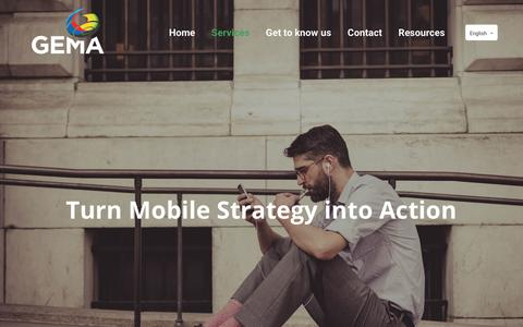 Screenshot of Services Page thegema.be - Services | GEMA Benelux - captured Oct. 20, 2017