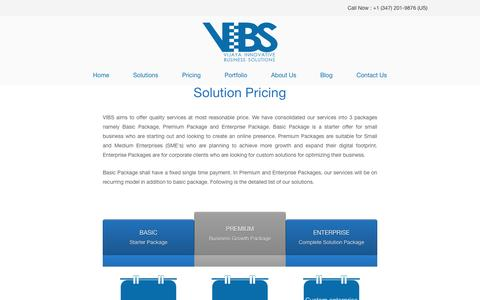 Screenshot of Pricing Page vibs.co.in - Pricing - Vijaya Innovative Business Solutions - captured Dec. 10, 2016