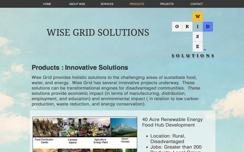 Screenshot of Products Page wisegridsolutions.com - wisegridsolutions | PRODUCTS - captured Dec. 14, 2016