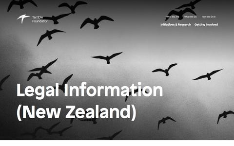 Screenshot of Terms Page terrible.ngo - Legal Information // Terrible Foundation (New Zealand) - captured July 7, 2018