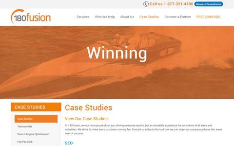 Screenshot of Case Studies Page 180fusion.com - Case Studies | 180fusion - captured Oct. 10, 2014