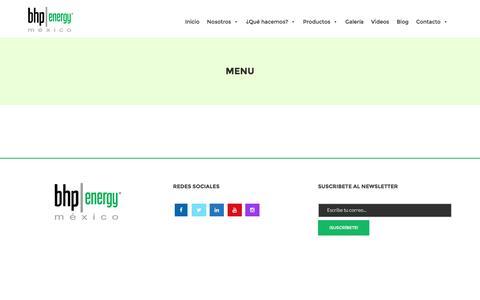 Screenshot of Menu Page bhbenergy.com - menu - Bhp Energy México - captured Nov. 21, 2016
