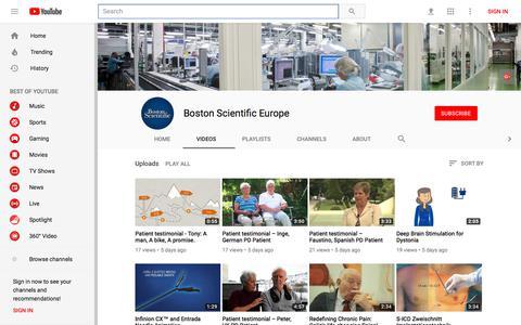 Boston Scientific Europe - YouTube - YouTube
