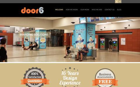 Screenshot of Home Page door6.com.au - Door 6 Graphic Design - captured Sept. 30, 2014
