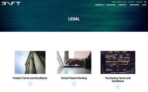 Screenshot of Terms Page ryft.com - Legal | Ryft - captured Oct. 12, 2017