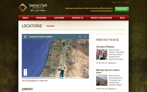 Screenshot of Locations Page tomorrowsyouth.org - TYO Locations | Tomorrow's Youth Organization - captured Oct. 24, 2017