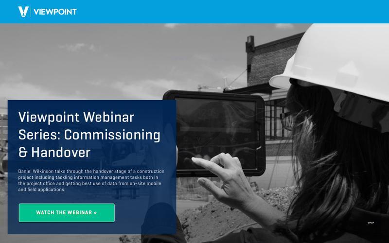 Viewpoint Webinar Series: Commissioning & Handover