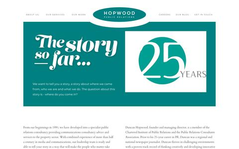 Screenshot of About Page hopwood.co.uk - About Us - Hopwood Public Relations - captured Dec. 16, 2018