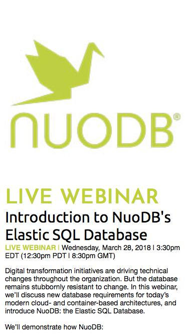 Introduction to NuoDB