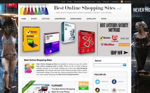 Screenshot of Home Page best-online-shopping-sites.net - Best Online Shopping Sites - The Best Sites for Shopping Online - captured Sept. 23, 2014