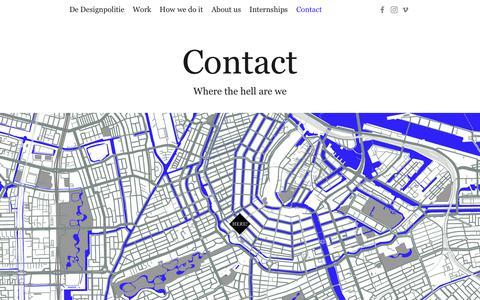 Screenshot of Contact Page designpolitie.nl - Contact - De Designpolitie - captured Oct. 9, 2018