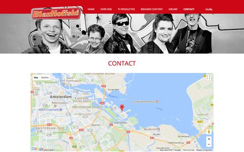 Screenshot of Contact Page blazhoffski.nl - Contact | - captured Oct. 10, 2017