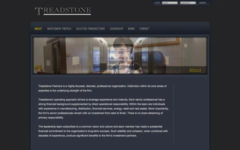 Screenshot of About Page treadstone.com - About Treadstone | Treadstone - captured Oct. 7, 2014