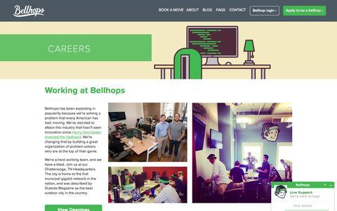 Screenshot of Jobs Page getbellhops.com - Bellhops Careers | Current Openings - captured Dec. 4, 2015