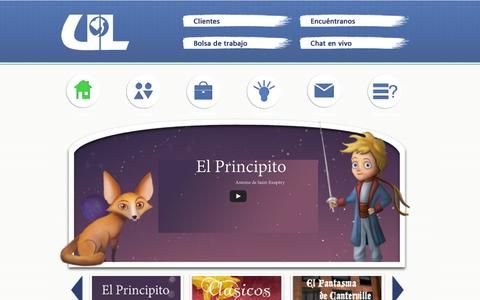 Screenshot of Home Page unidosporlalectura.com - Unidos Por La Lectura - captured Sept. 30, 2014