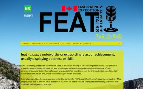 Screenshot of About Page featcanada.ca - FEAT Canada | About - captured Sept. 30, 2014