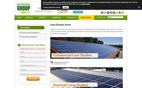 Screenshot of Case Studies Page thegreenergroup.com - Case Studies - The Greener Group - captured Jan. 11, 2016