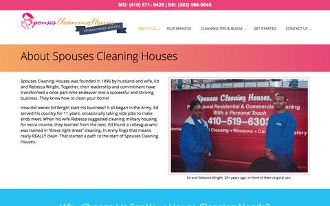 Screenshot of About Page spousescleaninghouses.com - About Spouses Cleaning Houses - Spouses Cleaning Houses - captured Sept. 22, 2018