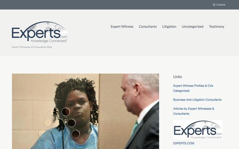 Screenshot of Home Page experts-blog.com - Expert Witnesses & Consultants Blog - captured Feb. 14, 2018