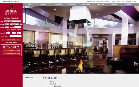 Screenshot of Site Map Page moranhotels.com - Site Map | Moran Hotels - captured Oct. 9, 2014