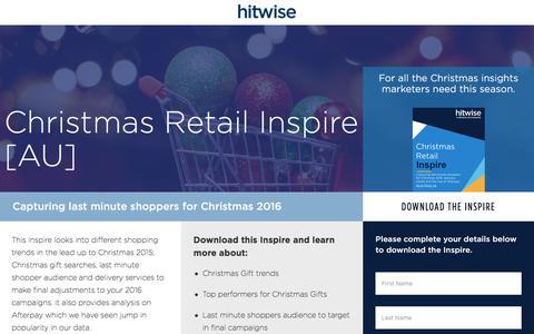 Screenshot of Landing Page connexity.com - Hitwise | Christmas Retail Inspire - captured Sept. 19, 2018