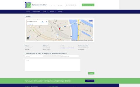 Screenshot of Contact Page partenaire-immobilier.be - Contact - Partenaire Immobilier - captured Jan. 23, 2016