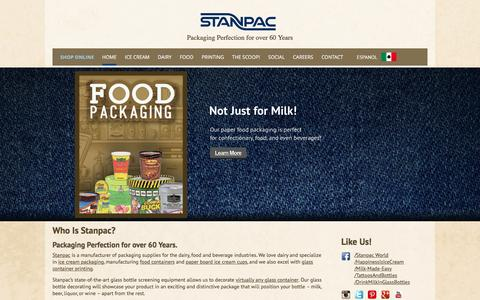 Screenshot of Home Page stanpacnet.com - Stanpac | Packaging Perfection for over 60 Years - captured Jan. 31, 2016