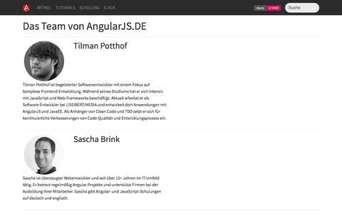 Screenshot of Team Page angularjs.de - AngularJS.DE → Das Team von AngularJS.DE - captured June 28, 2017