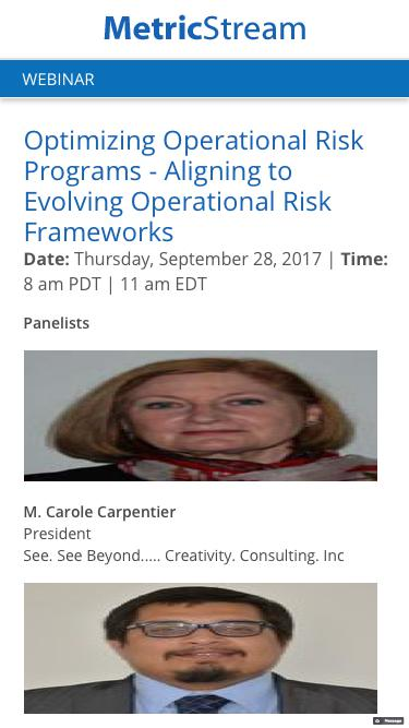 Optimizing Operational Risk Programs Aligning to Evolving Operational Risk Frameworks - Webinar