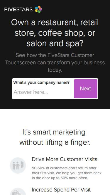 FiveStars for Businesses | Small Business Loyalty Programs