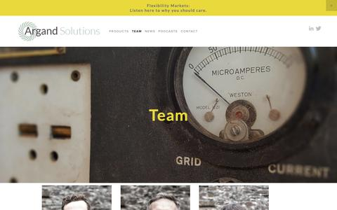 Screenshot of About Page argandsolutions.com - Team — Argand Solutions - We Solve Complex Energy Problems - captured Oct. 4, 2018