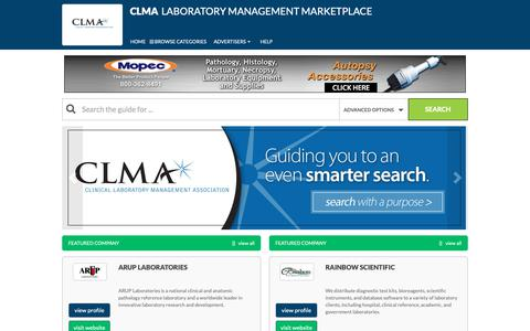Screenshot of Home Page laboratorymanagementmarketplace.com - Home  - Laboratory Management Marketplace - captured Oct. 24, 2018
