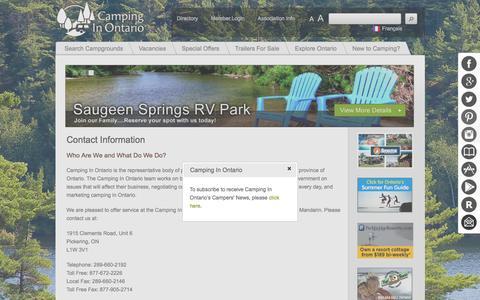 Camping - Contact Us